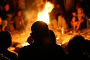 tribe-around-campfire