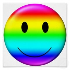 gay pride smiling face