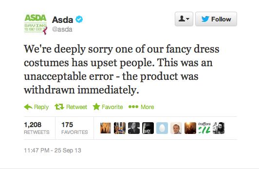 Asda apology