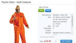 Tesco Psycho Costume