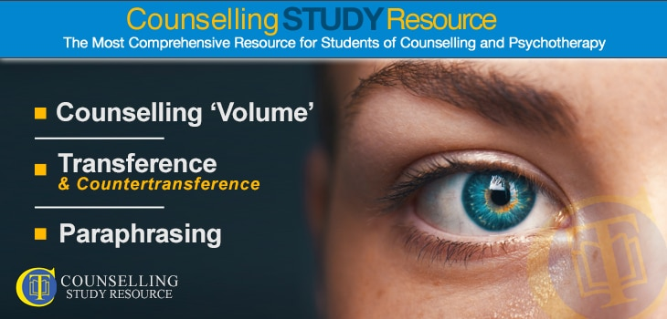 CT Podcast Ep003 - Counselling 'Volume' – Transference & Countertransference – Paraphrasing – UPR