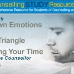 CT Podcast Ep31: Dealing with Your Own Emotions – Karpman's Drama Triangle – Managing Your Time as a Trainee Counsellor