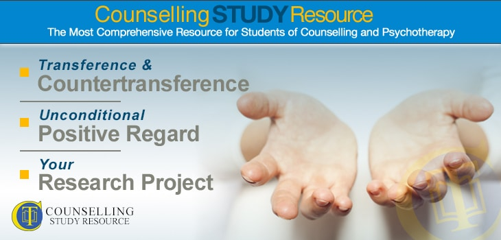 Counselling Tutor Podcast Ep 37 – Transference and Countertransference – Unconditional Positive Regard – Your Research Project