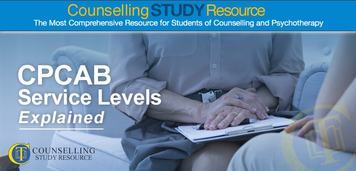 Counselling Tutor: CPCAB Service Levels Explained