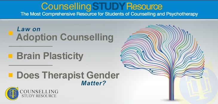 Counselling Tutor Podcast 058 – Law on Adoption Counselling – Brain Plasticity – Does Therapist Gender Matter?