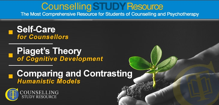 Counselling Tutor Podcast 060 – Self-Care for Counsellors – Piaget's Theory of Cognitive Development – Comparing and Contrasting Humanistic Models