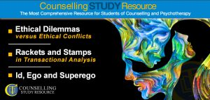 Counselling Tutor Podcast 061 – Ethical Dilemmas versus Ethical Conflicts – Rackets and Stamps in Transactional Analysis – Id, Ego and Superego