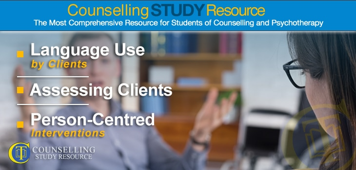 Counselling Tutor Podcast 064 – Language Use by Clients – Assessing Clients – Person-Centred Interventions