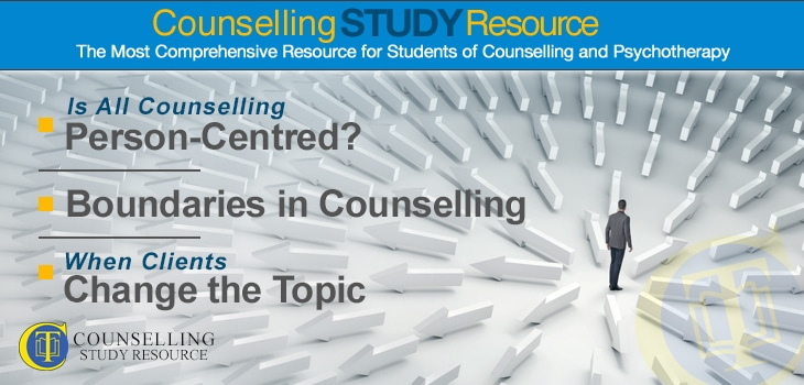 Counselling Tutor Podcast 066 – Is All Counselling Person-Centred? – Boundaries in Counselling – When Clients Change the Topic