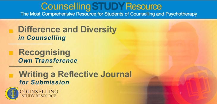 Counselling Tutor Podcast 067 – Difference and Diversity in Counselling – Recognising Own Transference – Writing a Reflective Journal for Submission
