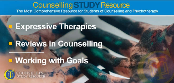 Counselling Tutor Podcast 068 – Expressive Therapies – Reviews in Counselling – Working with Goals