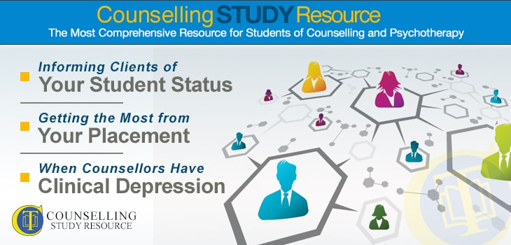 Counselling Tutor Podcast 069 – Informing Clients of Your Student Status – Getting the Most from Your Placement – When Counsellors Have Clinical Depression