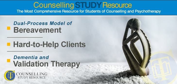 Counselling Tutor Podcast Ep71 – Dual-Process Model of Bereavement – Hard-to-Help Clients – Dementia and Validation Therapy