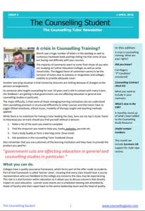 April 2018 Counselling Tutor Newsletter