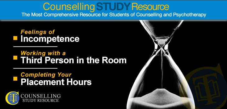 Counselling Tutor Podcast 79 - Becoming a Counsellor. An hourglass against a dark background