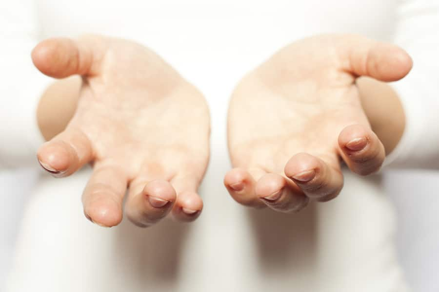 Use of self in counselling - open giving hands