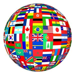 Heritage and Culture in Counselling - A globe made up of different flags