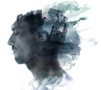 Psychodynamic Approach to Counselling - An image portraying a man's subconcious
