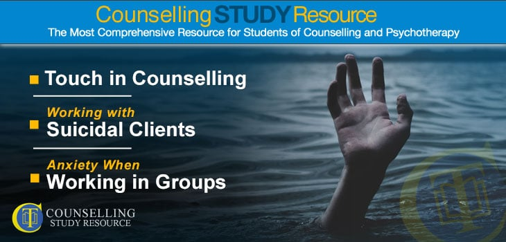 Counselling Tutor Podcast 86 - Working with Suicidal Clients in Counselling - A hand reaching out from under the water