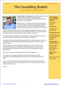 Nov 2018 Counselling Student Newsletter
