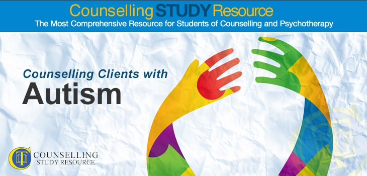 Counselling Clients with Autism - A composite image of the autism awareness ribbon made up of two hands
