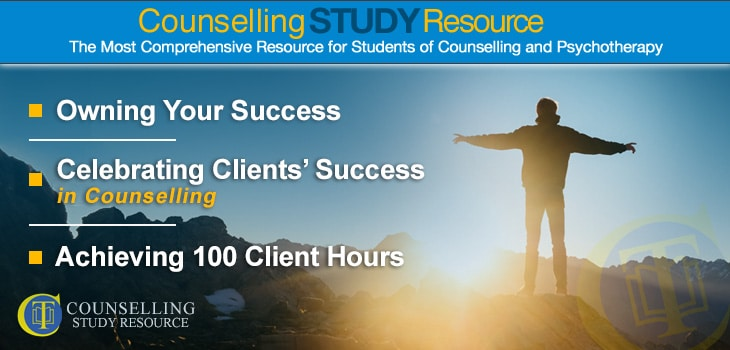 Celebrating Clients' Success in Counselling - A man standing on top of a hill with his arms spread wide open while facing the sunrise