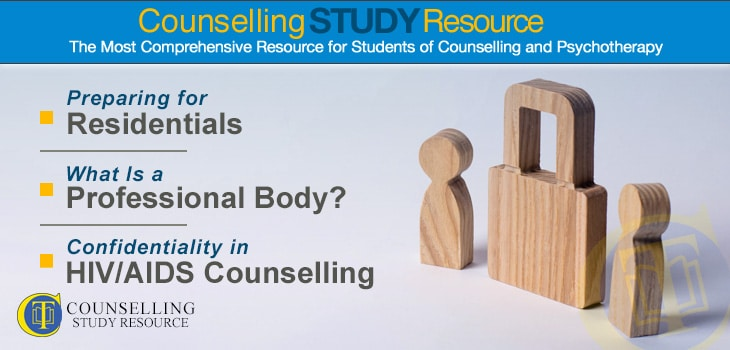 Confidentiality in HIV/AIDS Counselling - Wooden figures of a padlock and two persons