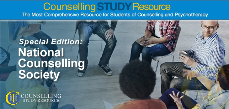 National Counselling Society - A group of counsellors seated in a circle