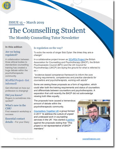 Counselling Student Mar 2019 newsletter