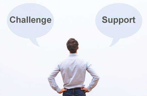 A high level of both support and challenge in counselling will offer the necessary level of safety and insight for growth for the client.