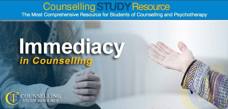 Hands of a counsellor facing a client - This featured image means to illustrate immediacy in counselling. This means that the therapist reveals how they themselves are feeling in response to the client.