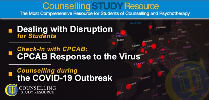 CT Podcast COVID Special ep 01 featured image - Topics Discussed: Dealing with disruption for students; CPCAB response to the virus; Different ways of counselling during the COVID-19 outbreak