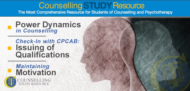 CT Podcast Ep 147 featured image - Topics Discussed: Power dynamics in counselling; Issuing of qualifications; Maintaining professional motivation
