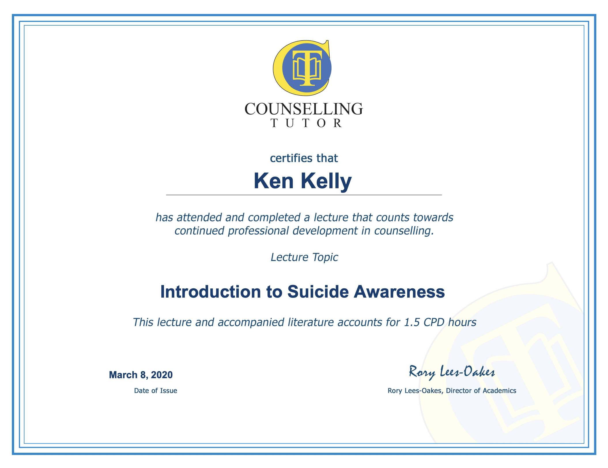 Online CPD for counsellors