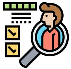 Online Therapy Competencies - icon of evaluation checklist
