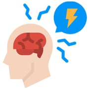 Managing Risk in Online Therapy - icon showing risky mental health condition