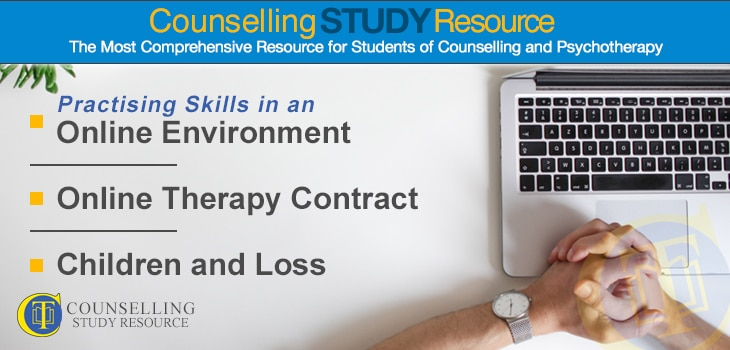 CT Podcast Ep 164 featured image - Topics Discussed: Practising skills in an online training environment; Online therapy contract; Children and loss