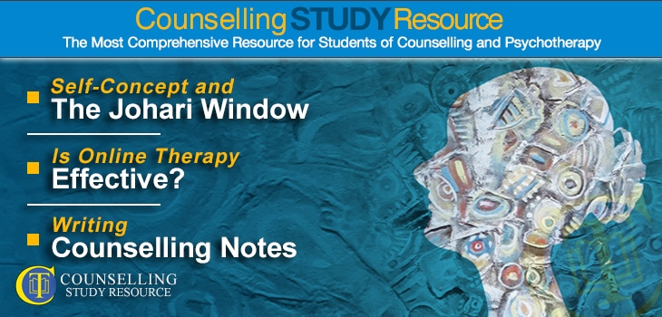 CT Podcast Ep166 featured image - Topics Discussed: Self-concept and the Johari window; Is online therapy effective?; Writing counselling notes