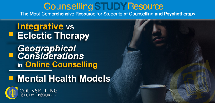 CT Podcast Ep 178 featured image – Topics Covered: Integrative vs Eclectic Therapy; Geographical Considerations in Online Counselling; Mental Health Models