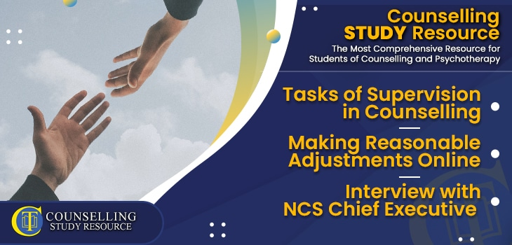 CT Podcast Ep182 featured image - Tasks of Supervision in Counselling – Making Reasonable Adjustments Online – Interview with NCS Chief Executive