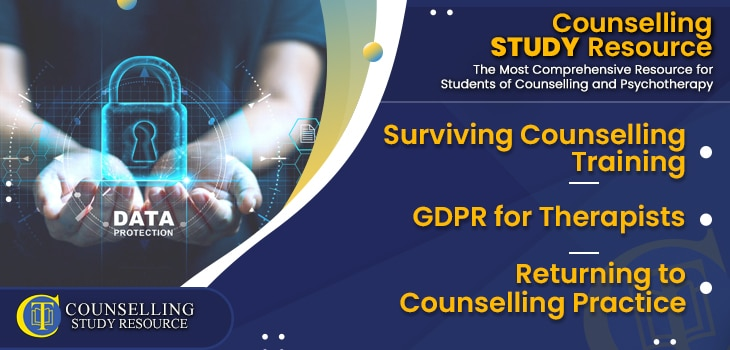 CT Podcast Ep184 featured image - Topics Discussed: Surviving Counselling Training – GDPR for Therapists – Returning to Counselling Practice