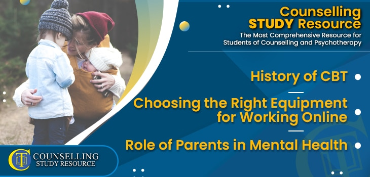 CT Podcast Ep189 featured image - Topics Discussed: History of CBT – Choosing the Right Equipment for Working Online – Role of Parents in Mental Health