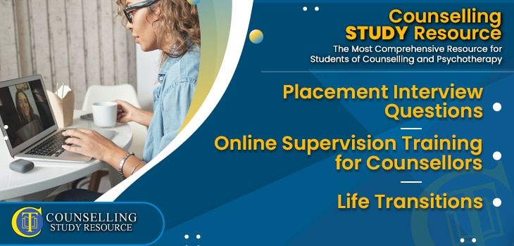 CT Podcast Ep191 featured image - Topics Discussed: Placement Interview Questions – Online Supervision Training for Counsellors – Life Transitions