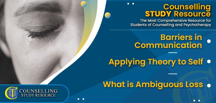 CT Podcast Ep 204 featured image - Topics Discussed: Barriers in Communication - Applying Theory to Self - What is Ambiguous Loss