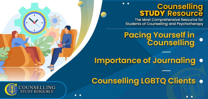 CT Podcast Ep202 featured image - Topics Discussed: Pacing Yourself in Counselling - Importance of Journaling - Counselling LGBTQ Clients