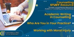 CT Podcast Ep197 featured image - Topics Discussed: Academic Writing in Counselling – Who Are You in Your Practice? – Working with Moral Injury