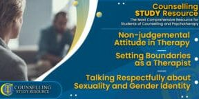 CT Podcast Ep201 featured image - Topics Discussed: Non-judgemental Attitude in Therapy - Setting Boundaries as a Therapist - Talking Respectfully about Sexuality and Gender Identity